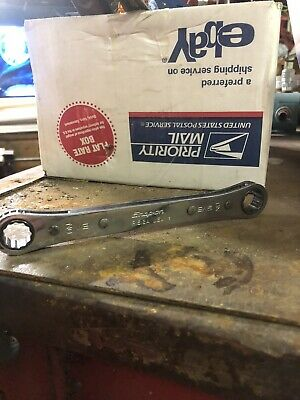 """Snap On R1618A 1/2"""" - 9/16"""" Double Box Ratcheting Wrench 12 Point (1993) USA"""