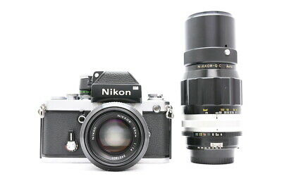 <NEAR MINT>Nikon SLR F2 Photomic With NIKKOR 50mm F/1.4 and NIKKOR-Q・C 200mm F/4