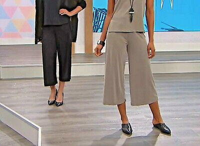 WynneLayers Washed Modal Wide Leg Cropped Pant