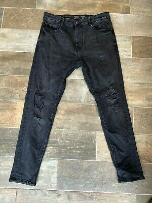 Pull & Bear Slim Fit Ripped Jeans Mens Size 32 UK (EURO 42)