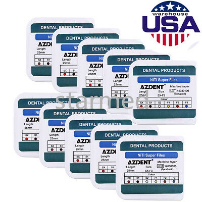 50 X AZDENT Dental Endodontic Root Canal Engine Use File SX-F3 25MM USPS