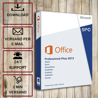 Office 2013 Professional Plus - 1/2/3/4/5PC - 32&64 Bits - ESD per Email