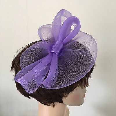 light pale purple lilac fascinator millinery burlesque wedding hat ascot bridal