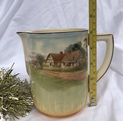 Vintage ROYAL DOULTON English Country Cottages Country Series Large Jug-c.1930's