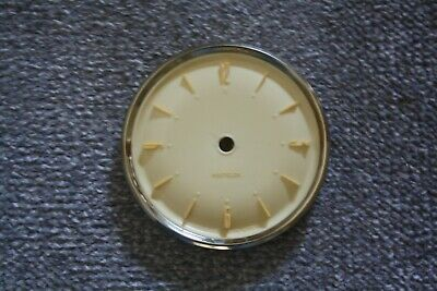 "Vintage Westclox 4"" small mantel clock dial/face/bezel for spares/repairs/parts"