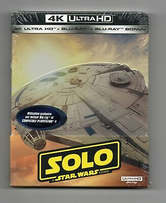 Solo: A Star Wars Story 4K UHD + 2D - Limited Edition Blu-ray Steelbook - NEW