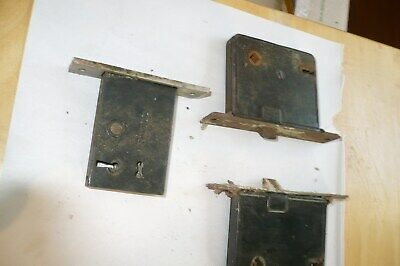 3 Vtg   Mortice Door Lock Skelton Key Corbin Farmhouse Victorian