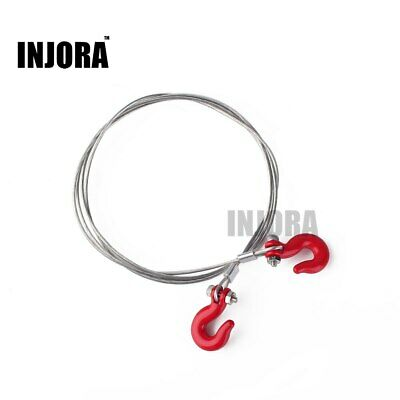 wire rope Tow cable with Hooks for SCX10 AX10 1:10 RC Crawler Truck Car Balck