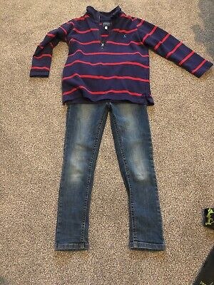 Boys Next Skinny Jeans And Joules Top Age 5 - 6