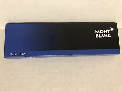Montblanc Rollerball 2 X Pen Refill Medium Pacific Blue 105159 Used