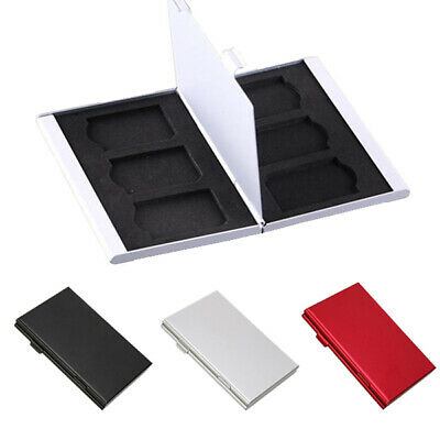 Memory Card Storage Box Case Holder with 6 Slots for SD SDHC MMC Micro SD Cards