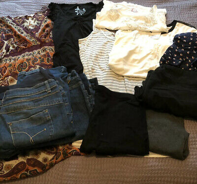 Maternity Clothes Bundle Size 10/12 - Good Condition - Mainly Red Herring.