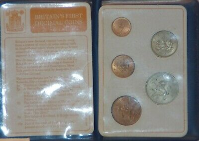 Britains First  Decimal Coin Set  In Wallet