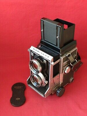 VINTAGE MAMIYA C3 TLR FILM CAMERA WITH SEKOR f 2.8 / 80 LENS, CAP & STRAP