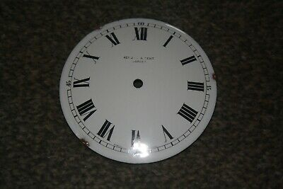"Vintage French small mantel clock 31/2""enamel dial/face for spares/repairs/parts"