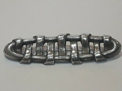 Large antique victorian solid silver brooch. 8 grams.