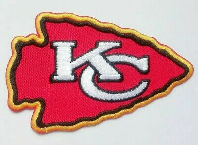 "Kansas City Chiefs Embroidered 3 7/8"" Iron On Patch"