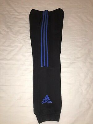 Boys Adidas Black And blue joggers jogging bottoms age 9-10 years