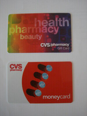 CVS Pharmacy Collectible Used Gift Cards (2), NO VALUE