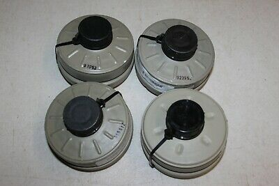 Lot of 4 Genuine Military Israeli NATO NBC 40mm Gas Mask Filter Filters Survival