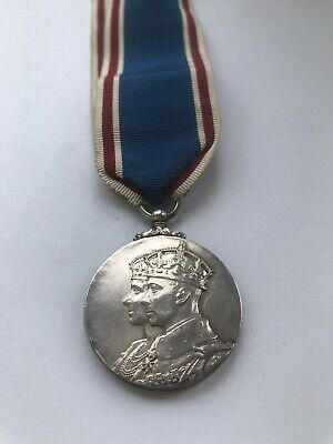 1937 OFFICIAL KING GEORGE VI SILVER CORONATION MEDAL - Full Size Original