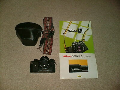 NIKON EM CAMERA WITH 50 mm 1: 1.8 JAPAN LENS IN VERY GOOD CONDITION CASE & STRAP