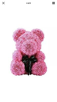 Rose Bear with box Teddy Bear Large Luxury Rose Gift 40CM UK Mother's Day