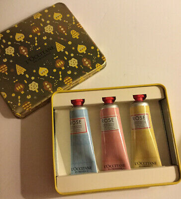 L'Occitane Limited Edition Tin With Three 30ml Rose Hand Creams