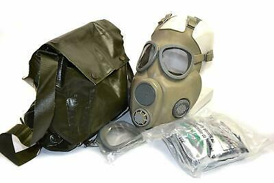 Military Czech Gas Mask M10 w/ Filters & Bag Emergency Survival NBC Full Face
