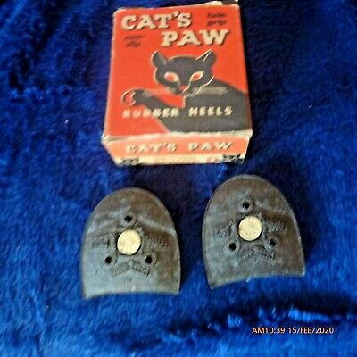BOOT HEELS CAPS REPLACEMENTS CATS PAW BROWN SCOOP O WOMEN/'S SIZE