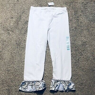 New With Tag naartjie Kids girls white pant legging With Ruffle Hem Size 10