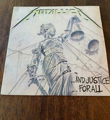 METALLICA ...And Justice For All 1988 Elektra Records Vinyl Free Shipping