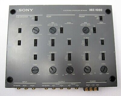 Sony XEC-1000 electronic crossover hifi car audiophile crossover network 1990s
