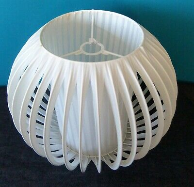 BIG Stylish White Mid Century Modern Vintage Globe Lightshade / Lampshade