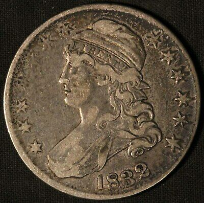 1832 United States Capped Bust 50c Half Dollar - Free Shipping USA