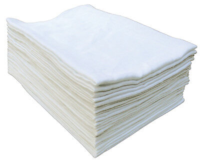 12x White Muslin Squares Baby Muslins Cloths Nappy Inserts 100% Cotton Bibs 70cm