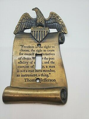 Patriotic Eagle & Shield Thomas Jefferson Quote Light Switch Plate Cover
