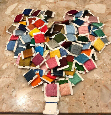 LOT OF 126 Embroidery Floss-DMC Numbered Cards Variety Of Colors