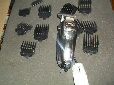 Wahl Adjustable Hair Clippers Model # MC-2 Black & Chrome 11 PC Accessory Case