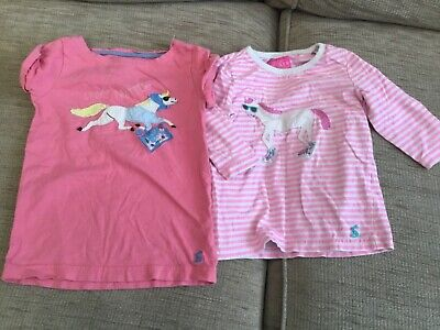 Girls Joules horse tops. Age 3 years.