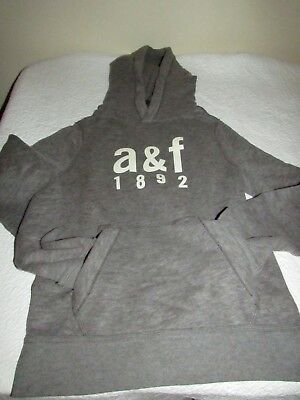 Abercrombie & Fitch Kids Boys Muscle XL Sweatshirt Hoodie Glow in Dark Grey NWT