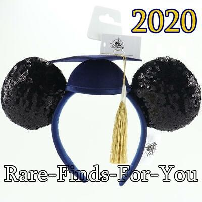 Disney Parks Minnie Mickey Mouse Ears Graduation Class of 2020 Headband NEW/TAGS