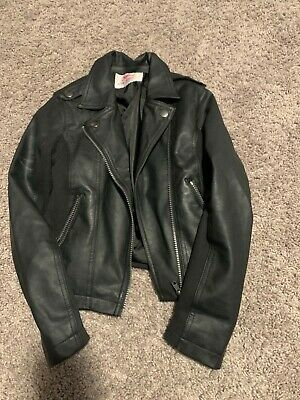 Girls Justice Size 8/10 Black leather jacket Kids Clothing Youth