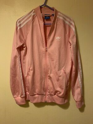Adidas Original Baby Pink Zip Up Tracksuit Jacket Age 13-14 Years