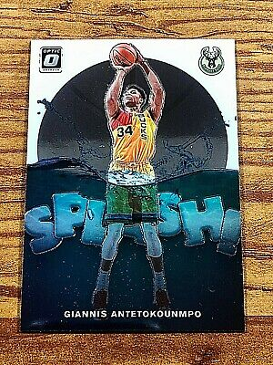 Giannis Antetokounmpo 2019-20 Panini-Donruss Optic SPLASH Base Insert Bucks