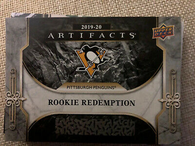 2019-20 Artifacts Pittsburgh Penguins Rookie Redemption