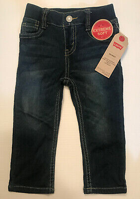 Levis Skinny Jeans Boys Toddler 18 Month Size Extreme Soft New With Tags