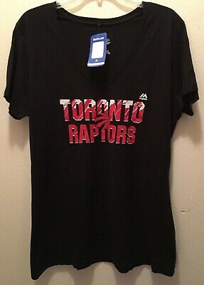 NBA Majestic Ladies XL Black Toronto Raptors Shirt (NWT)