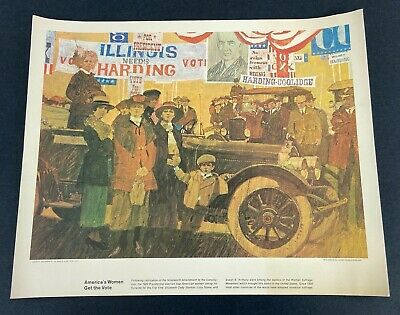 "Vintage Humble Oil & Refinery Company ""America's Women Get To Vote"" Print"