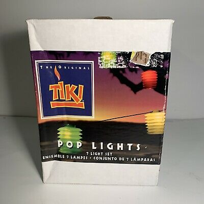 Tiki Patio Party String Lights Set Of 7 Pop Lights